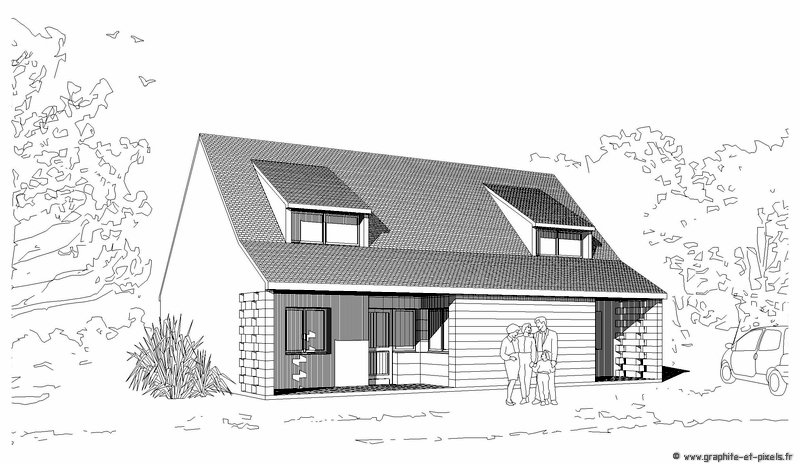 Dessin de maison d 39 architecte for Dessins d architecture bricolage